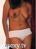 young indian girl without bra