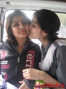 School Indian girl kissing