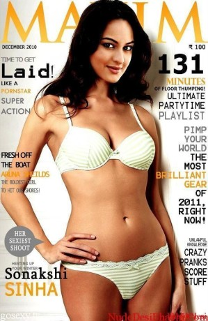 Sonakshi-Sinha-Hot-Photos-in-Bikini-on-Maxim-Magazine-Cover-Page-Latest-Bold-Images