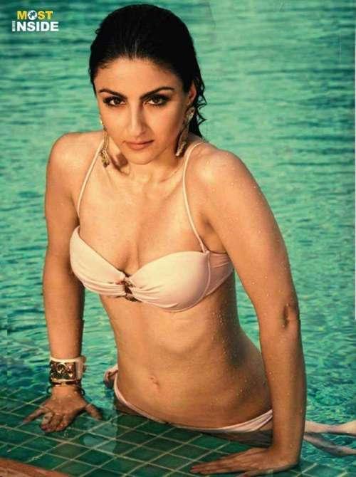 Hot Soha Ali Khan Breast Nude Photo-7787