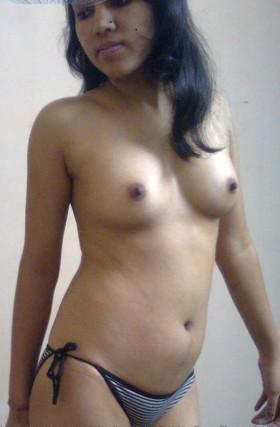 beautiful young sister pressing tits panty