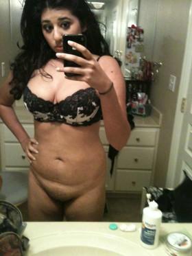 big breasted indian bathroom nude selfie