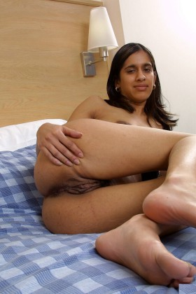 desi indian naked girl showing off hairy nude pussy